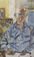Dr. Alan Roland - self portrait in watercolor