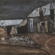 Brittany Farmhouse - intaglio print