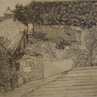 Devonshire Courtyard - intaglio print